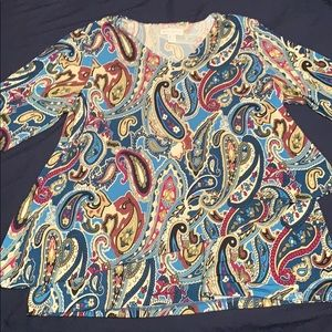 Paisley two layered ruffle top